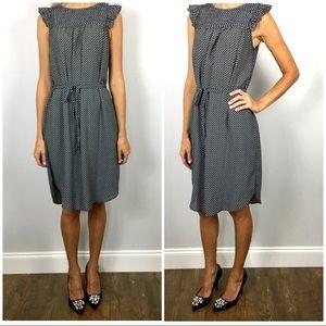 H&M butterfly pattern ruffle sleeve dress 4